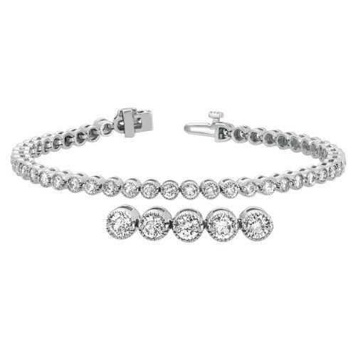 14K White Gold 4cttw Round Diamond Bracelet Jewelry Pot. $6884.99. Your item will be shipped the same or next weekday!. 30 Day Money Back Guarantee. Fabulous Promotions and Discounts!. All Genuine Diamonds, Gemstones, Materials, and Precious Metals. 100% Satisfaction Guarantee. Questions? Call 866-923-4446