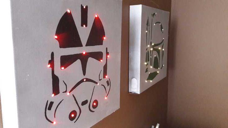 Star Wars ledes fali dísz - Lurkovarázs.hu - Kreatív feladatok gyerekeknek