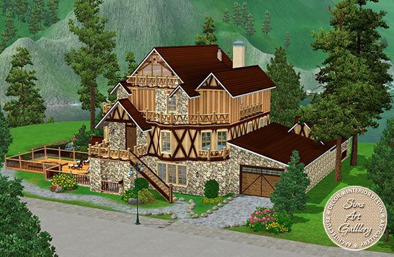 Luxury chalet http://www.sims-artgallery.net/en/gallery/sims-3/lots/residential-lots/medium/1397/