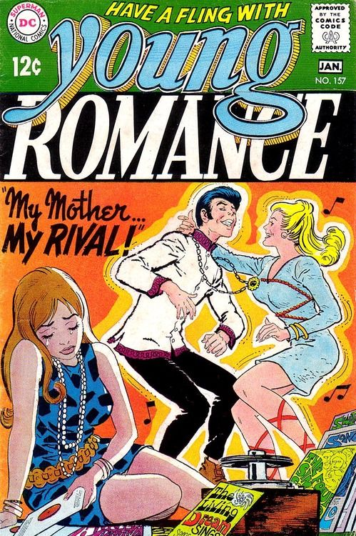 Young Romance #157, January 1969, cover by Nick Cardy