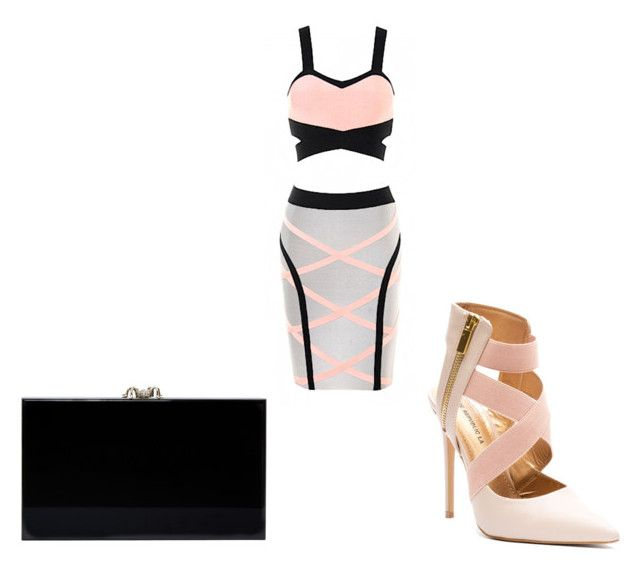 Geometrie by la-promenade on Polyvore featuring moda, Charlotte Olympia, black and softpink