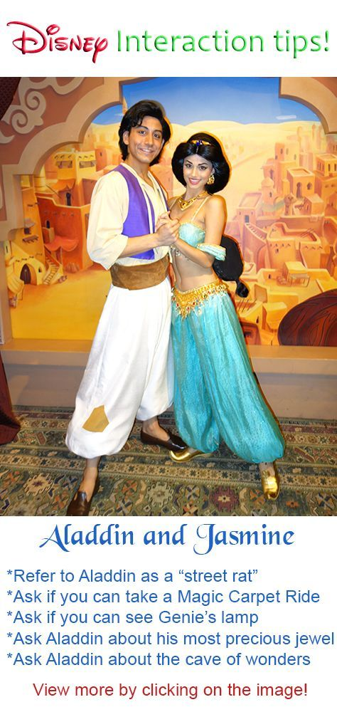 Disney World Character Interaction Tips for Aladdin and Jasmine #disney #world…