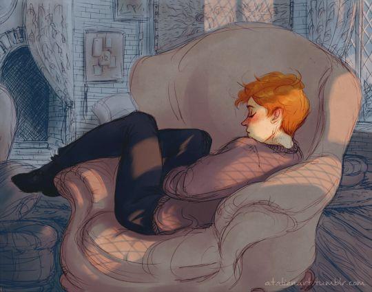 Ronald Weasley ( ˘ o ˘ ) ~zzZ by Natello's Art