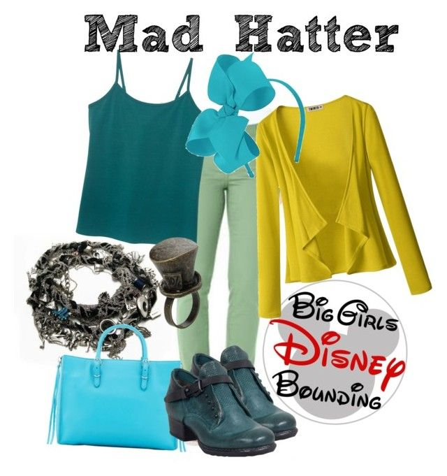 """""""Mad Hatter Plus Size Disney Bounding"""" by bgdisneybound on Polyvore featuring Lane Bryant, Doublju, Balenciaga, A.S. 98 and Disney"""