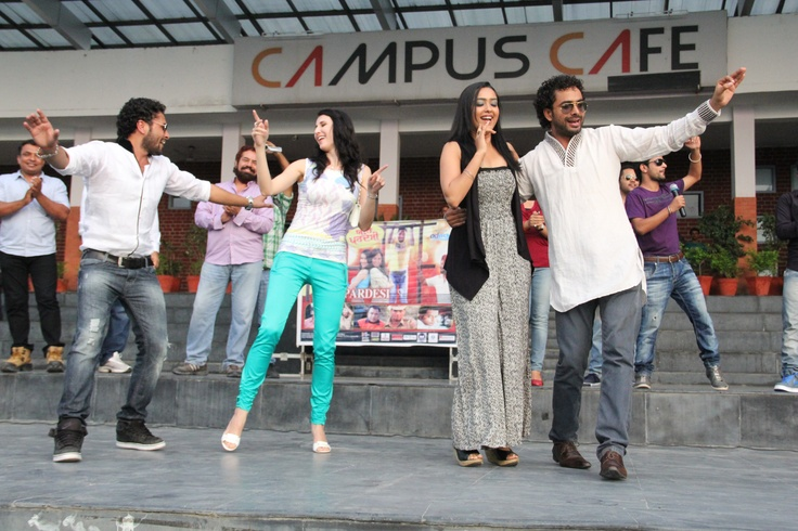 Claudia Ciesla & star cast of Punjabi Film visited LPU