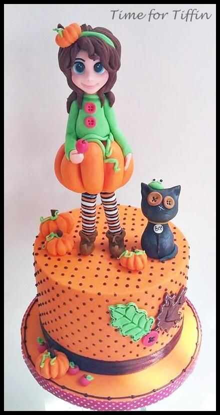 pumpkin and boo cake by time for tiffin - Halloween Decorated Cakes
