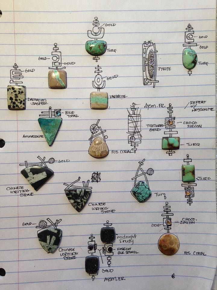 lesley aine mckeown - This is a wonderful tip on designing bails. To put your focal bead down on paper, and sketch bail ideas around them.
