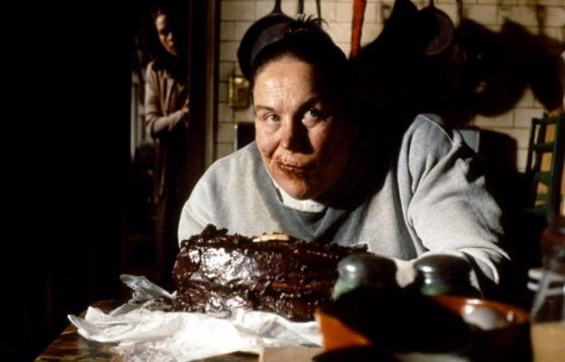 chocolate cake (Agatha Trunchbull stuffs her face, Matilda)
