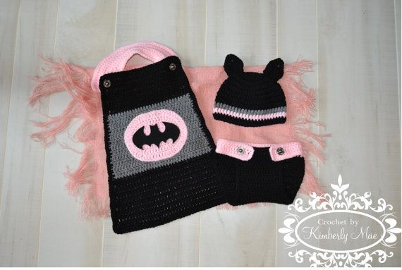 RTS Batman Girls Prop/Outfit in 36 Months by CrochetbyKimberlyMae, $50.00