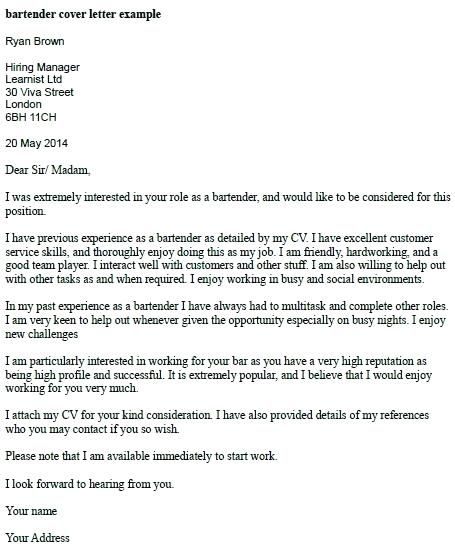 Cover Letter Template Barista Cover Letter Template Sample