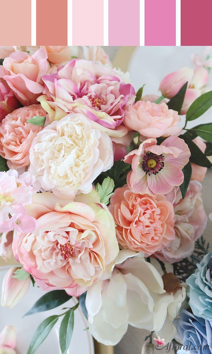 Pink Wedding Flowers With Tones Of Coral Peoniesweddingflowers