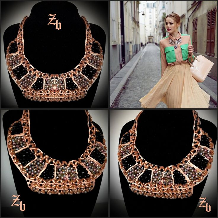 Statement necklace... Z'ett bijou handmade necklace...