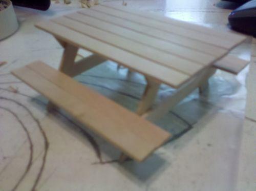 popsicle stick picnic table