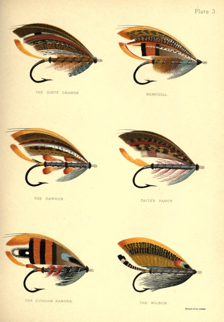 Plate 3: The Dirty Orange, Benchill, The Dawson, Taite's Fancy, The Durham Ranger & The Wilson, George Kelson - The Salmon Fly 1985