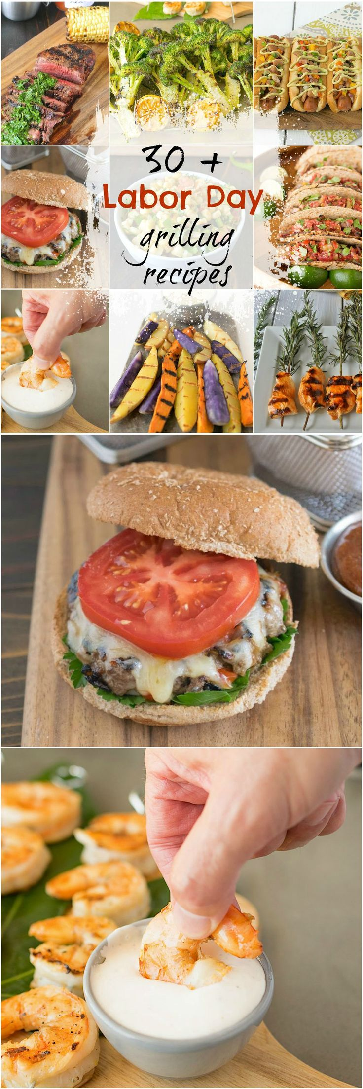 30 + Labor Day grilling recipes to help you with your Labor Day meal planning. From side dishes, to meat, to seafood and burgers, I have you covered. #laborday #grilling