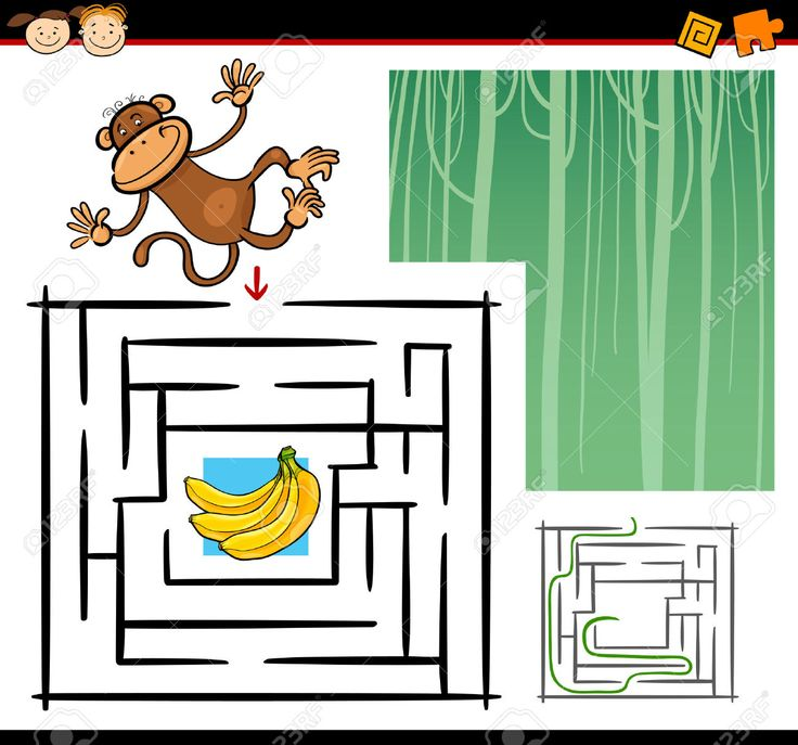 Cartoon Illustration Of Education Maze Or Labyrinth Game For.. Royalty Free Cliparts, Vectors, And Stock Illustration. Image 23643665.