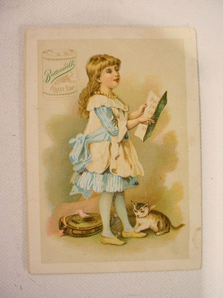 antique  and vintage .victorian cards | Antique Victorian Advertising Trade Card Girl ... | Cats - poster and ...
