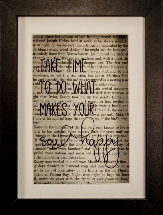 take time to do what makes your soul happy by ceceliarosepaperie - Book Page Decorations