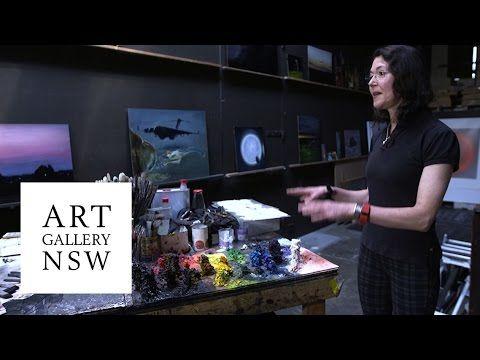 Louise Hearman in her studio