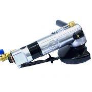 """Esmerilhadeira Angular GPW-219 11000rpm - Gison - Velocidade Máx: 11.000 rpm  Consumo de Ar: 23pcm  Entrada de Ar: ¼""""  Pressão de Ar: 90 psi  Eixo: M14  Peso: 2,0 Kg  Ejeção centralizada de água que reduz o pó e proporciona proteção em relação à inalação de sílica.  Esmerilhadeira e lixadeira portátil e resistente para uso geral em aplicações variadas.  Utiliza discos de 5"""".  Proteção emborrachada contra resfriamento do cabo.  Operação sem risco de acidentes elétricos. www.colar.com"""