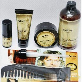 WEN BY CHAZ DEAN SWEET ALMOND CONDITIONER,STYLING CREME, RE-MOIST MASK INTENSIVE HAIR TREATMENT,TEXTURE BALM,WIDE TOOTH SH... $46.95