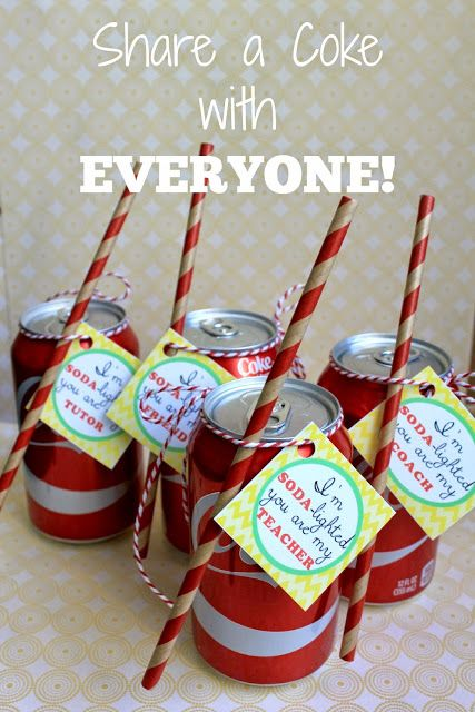 Share a coke with everyone! #ShareItForward #ad Free Printable tags. Download tags, attach to cans and share a Coke with your favorite teacher, friend or coach!! @cocacola @samsclub