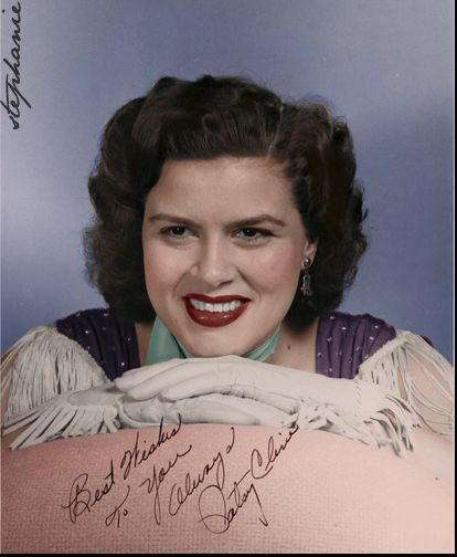 Patsy Cline Colorize from B&W ~ I FALL TO PIECES.......