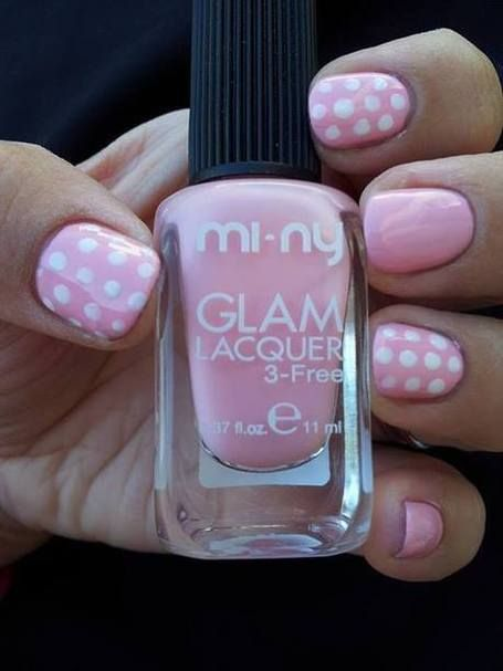CONTEST: WE LOVE NAIL ART - THE WINNER!  Nail art by Elena Romano. http://www.facebook.com/minynails  #nails #nailart #nailpolish #naillacquer #pink #dots #minycosmetics #girls #cool #fashion #style
