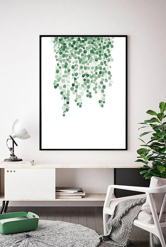 Leaf Wall Art Botanical Print Greenery Print Modern Art Modern Minimal Scandinavian Decor Art Prints Wall Art Tropical Leaf Prints Green Room Decor Leaf Wall Art Scandinavian Wall Art