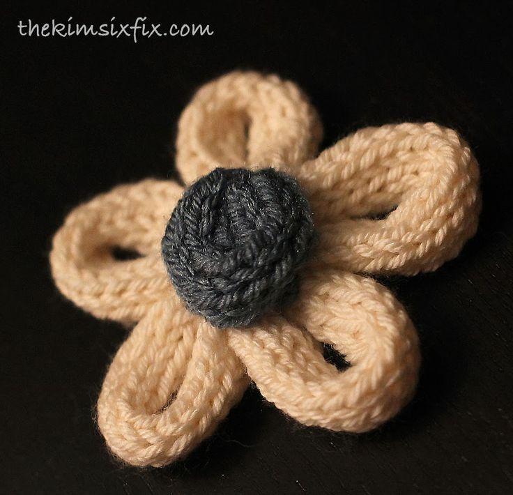 French Knitting Flowers : French knit flower shirt spool knitting shirts