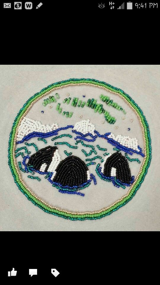 West Coast Metis...remembered this view from childhood memories, seem a similar bead work and replicated a small  peace  of it .