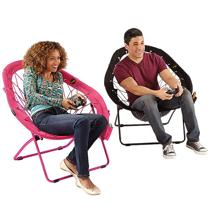 Super-Bungee Chair — New pear shape only from Brookstone! The Super-Bungee Chair is perfect to hang out in dorms! Order yours today!