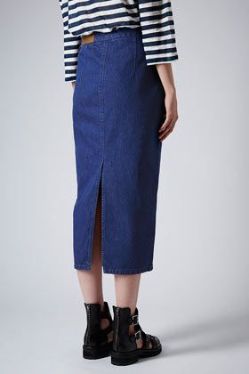 Denim Pencil Skirt by Boutique