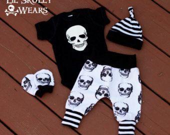 Traje de bebé recién nacido viniendo a casa por LilSkullyWears