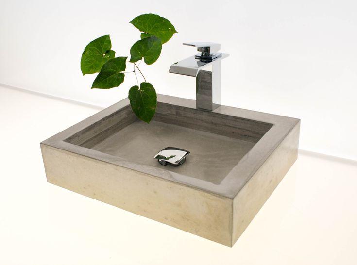 waschbecken aus beton wunderbar klare form und struktur mehr unter. Black Bedroom Furniture Sets. Home Design Ideas