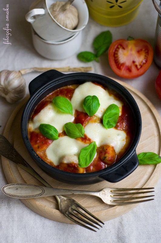 Pieczone gnocchi w sosie pomidorowym/baked gnocchi in tomato sauce