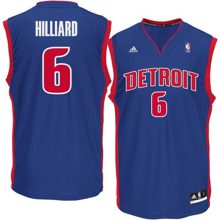 Darrun Hilliard Detroit Pistons adidas Replica Jersey - Royal