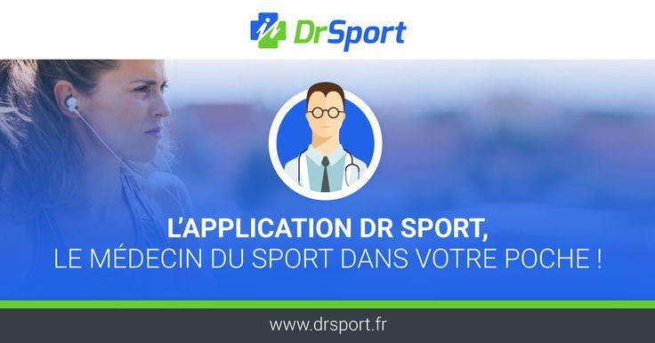 Dr Sport, votre médecin du sport dans la poche! Découvrez la 1ère application qui propose une prise en charge complète et rapide des pathologies du sportif.
