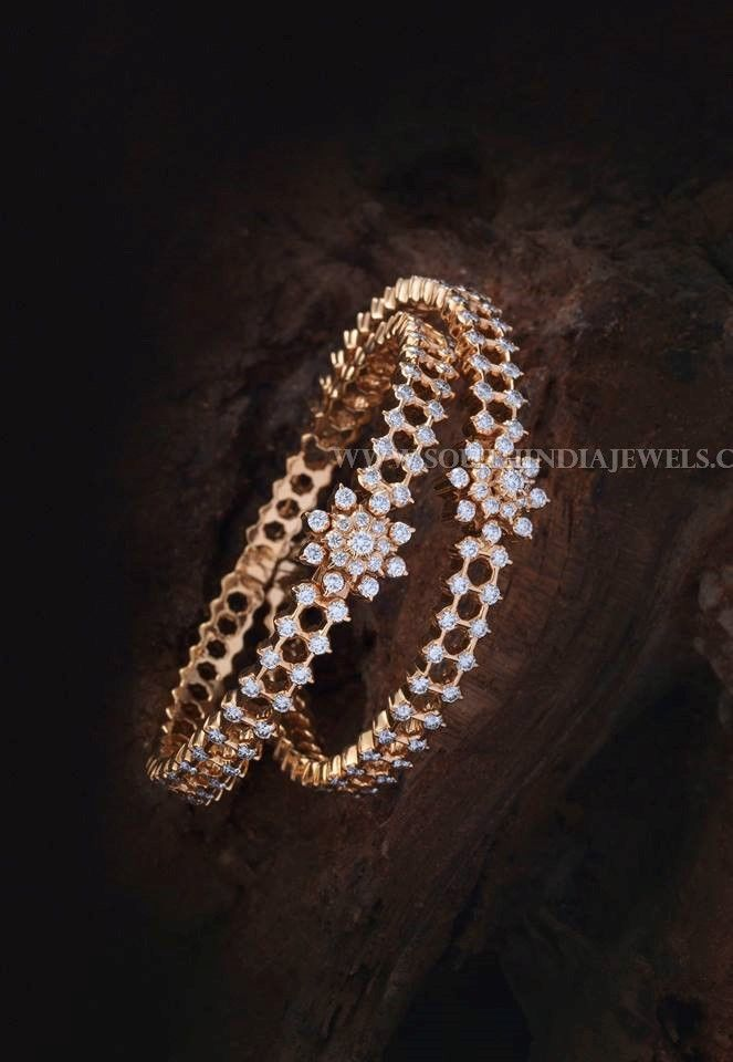 Gold Diamond Bangle Designs With Price Details, Diamond Bangles With Price in Rupees.