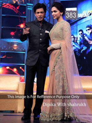 Deepika Padukone Peach Net Designer Saree Bollywood Sarees Online on Shimply.com