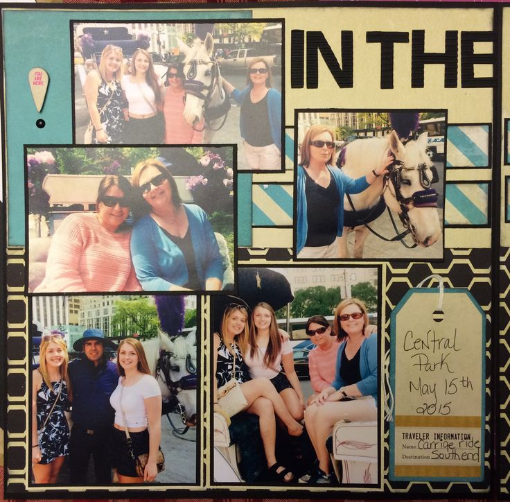 Scrapbook layout New York Central Park