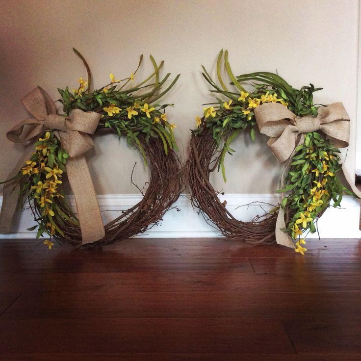 Wreaths for double doors