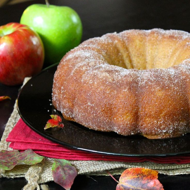 I warned you didn't I? Here we go now with the first of what may prove to be a parade of Fall-time apple-y goodness...Apple Cider Donut Cake! Whaaat? Yup....Apple. Cider. Donut. Cake. Could I have ...