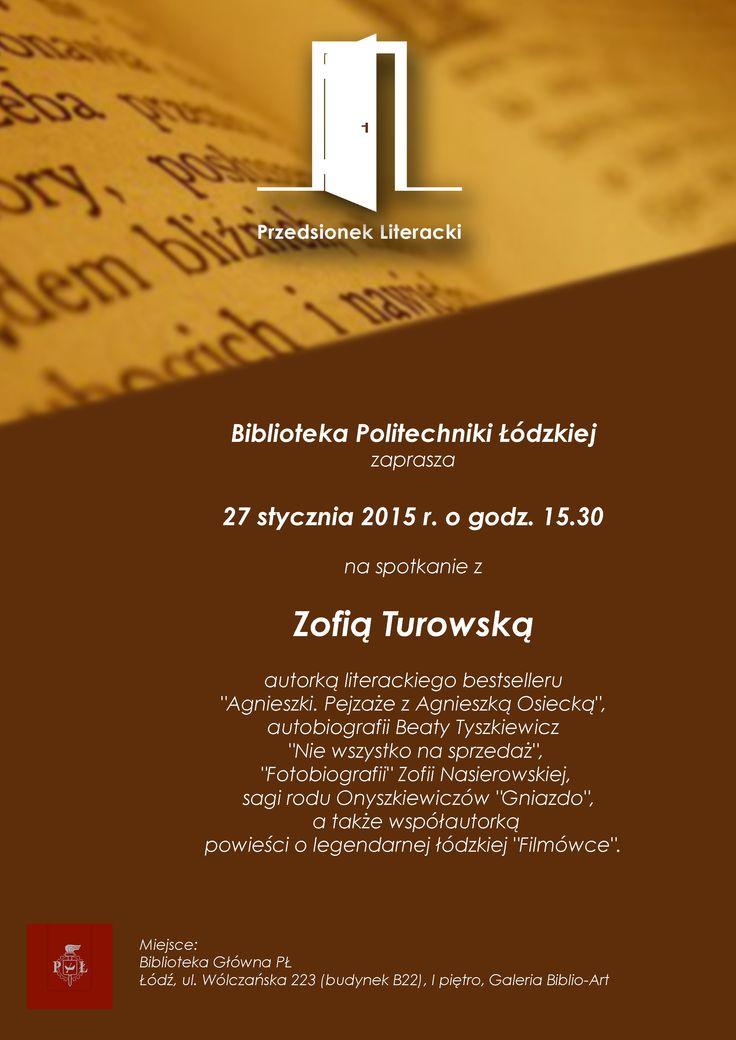 Spotkanie z Zofią Turowską (27 stycznia 2015)