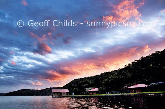 Sunset Seascape Photo over water and through by GeoffsSunsetPics, $15.00