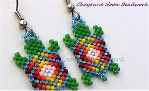 Image result for Native Seed Bead Earring Patterns Brick Stitch
