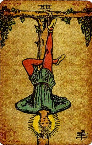 The Hanged Man from Pamela's Vintage Tarot Deck  For a FREE
