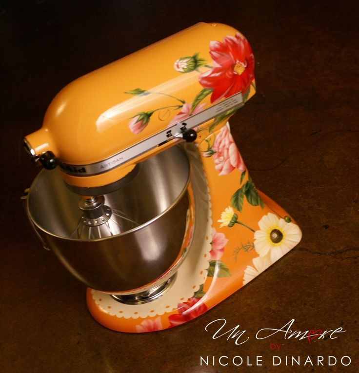 17 best images about kitchen aid mixers on pinterest wonder woman firemen and kitchen aid mixer - Decorated kitchenaid mixer ...