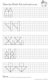 lernst bchen muster fortsetzen und anmalen 3 schule muster geometrie und mathe. Black Bedroom Furniture Sets. Home Design Ideas