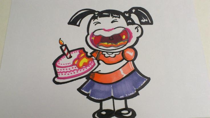 Ilustración para cumpleaños :D